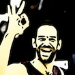 Cartoonized from a basket player for Alberto